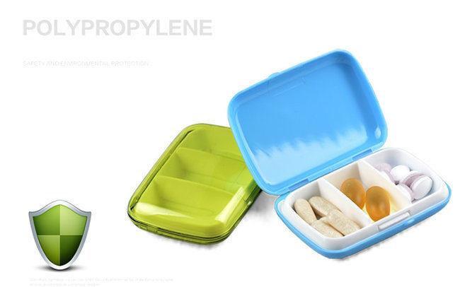Multi Day 3 Cells Portable PP Pill Box R8300
