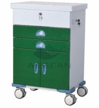 AG-GS004 Movable Multfunctional Medical Equipment Trolley with Wheels