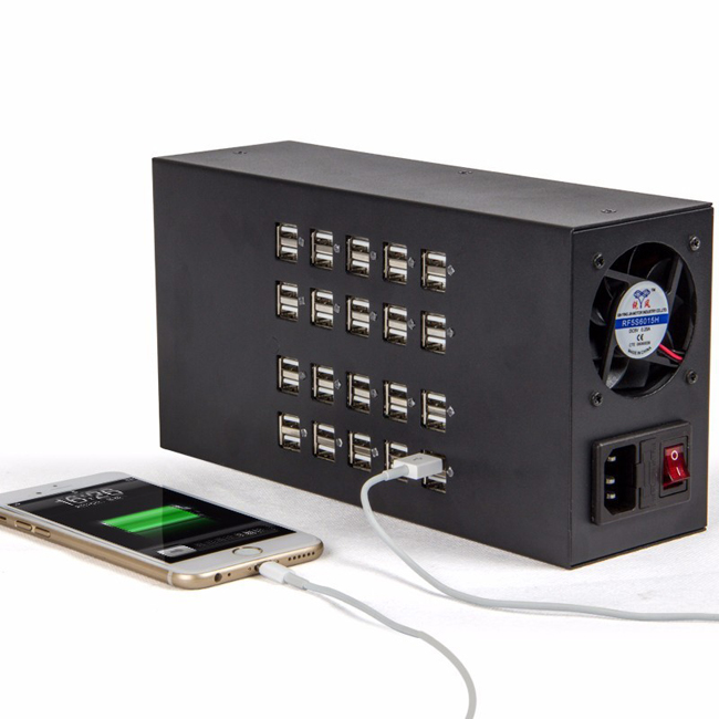 40 Ports 300W 60A USB Power Socket Charger Station Home USB Charger Adaptor