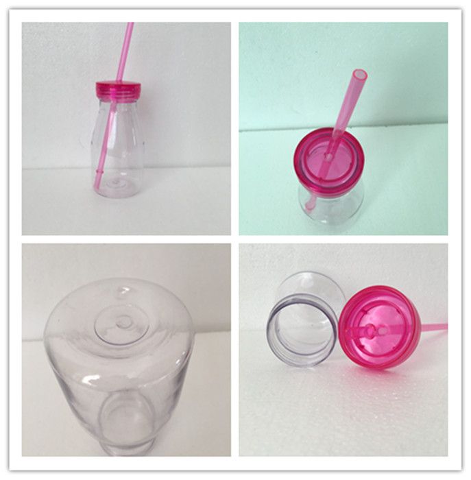 16oz Glitter Acrylic Tumbler with Lid and Straw