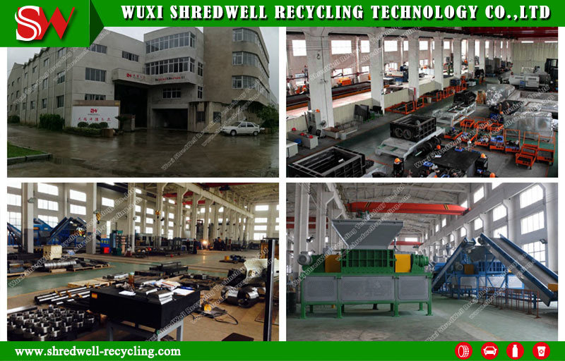 Rough Shredding Machine for Solid Waste/E-Scrap/Used Cable Recycling