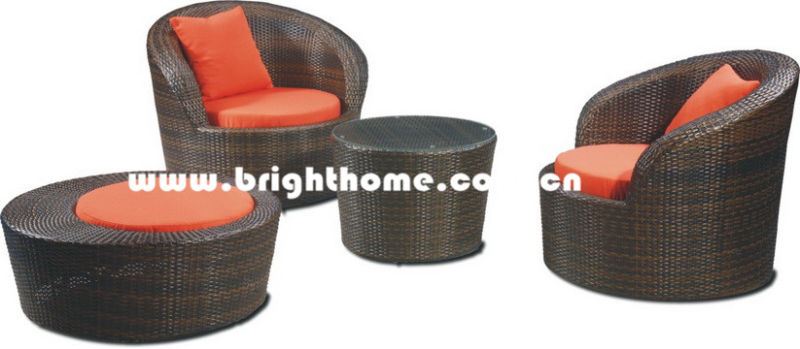 Single Sofa Rattan Wicker Garden Furniture Bg-106