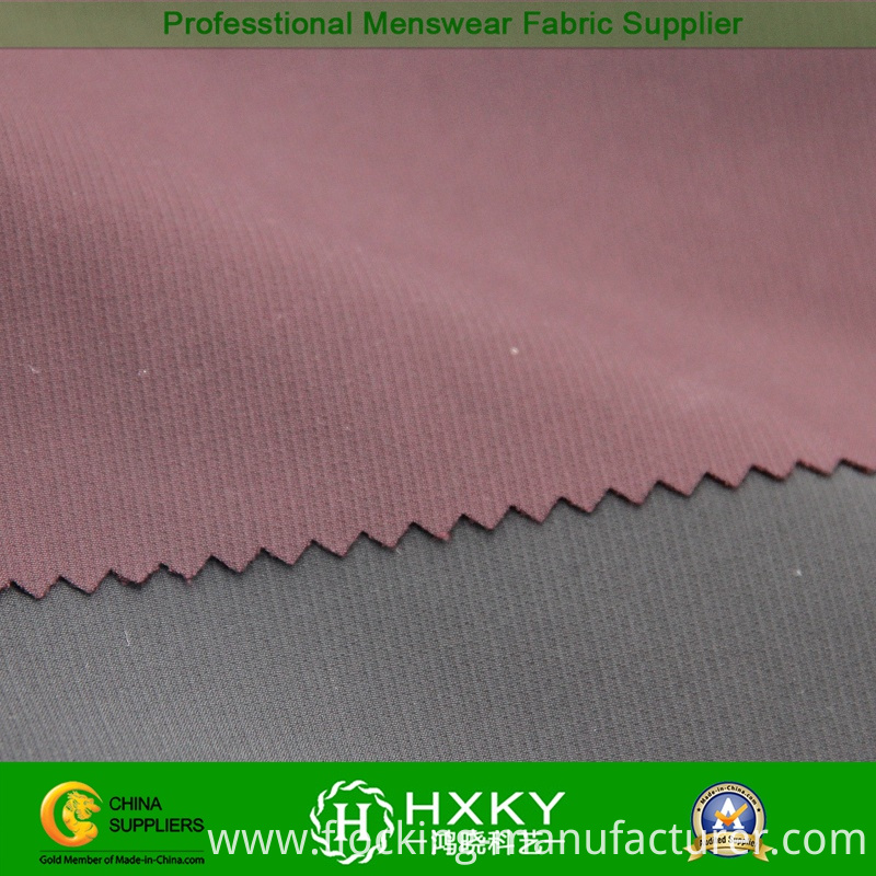 Shadow Checks Spandex Polyester Fabric for Men's Garment