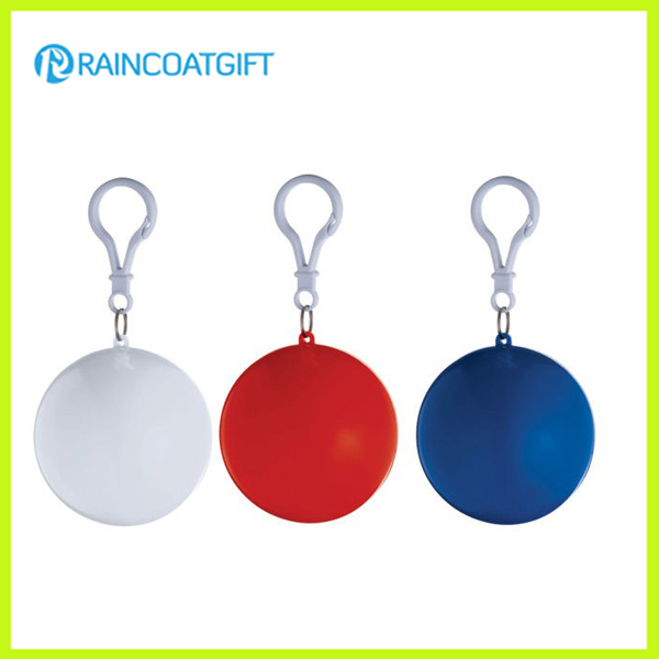 Promotional Keychain Ball Packing PE Disposable Rain Poncho