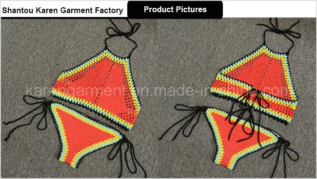 Halter High Neck Ethnic Handmade Crochet Swimsuit