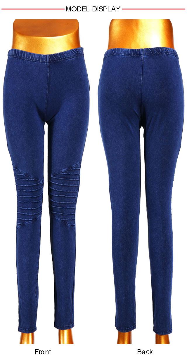 Good Stretchy Dark Blue Women Denim Leggings
