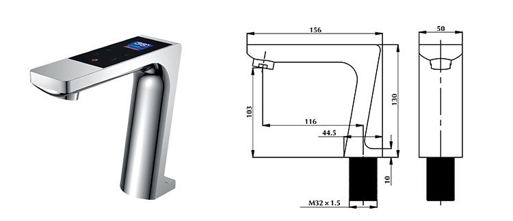 Water Tap Deck Mounted Modern Basin Electronic Faucet