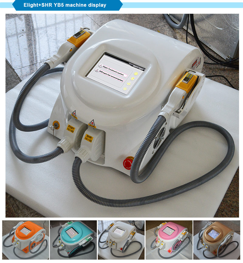 Newest Machine Professional Elight IPL Shr Hair/Wrinkle/Freckle/Acne Removal