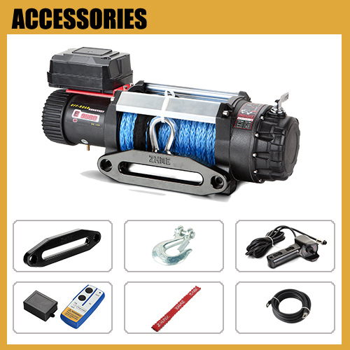 4WD off Road 12500lbs Portable Electric Winch with IP68