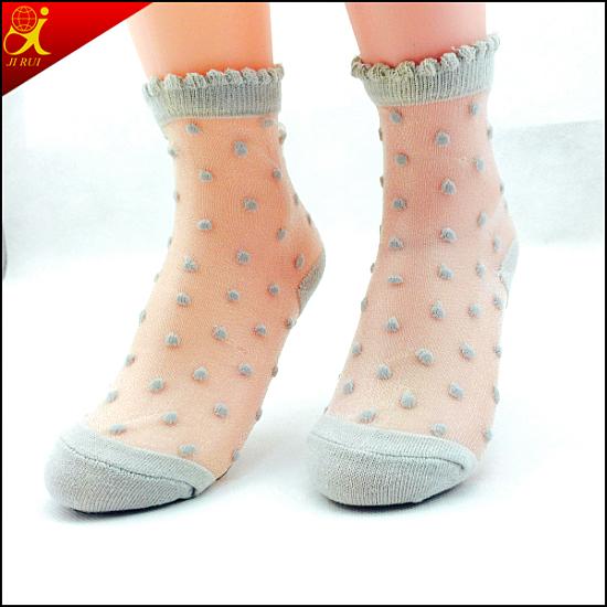Women Summer Wear Thin Silk Sock