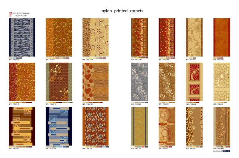 High Quality Machine Made Nylon Printed Hotel Carpet