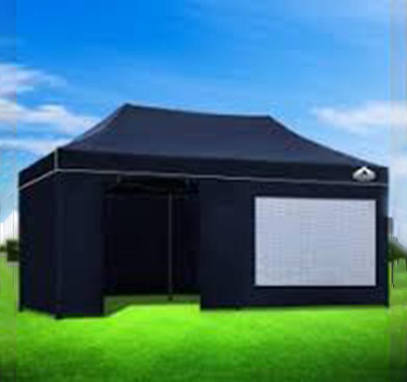 Pop Up Gazebo PVC Window Folding Tents
