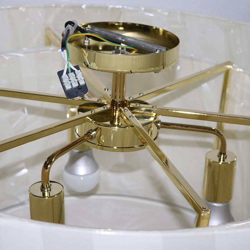 Vintage Hotel Amber Glass Case LED Pendant Lamp for Living Room