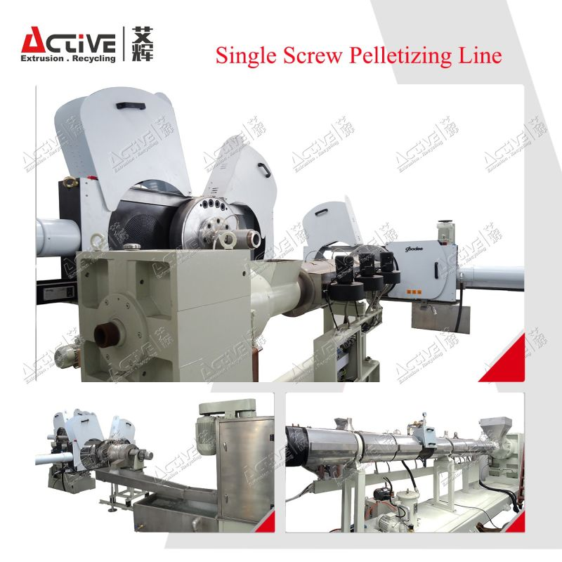 Single Screw Double Stage Plastic Pelletizing Machine/Granulating Machine