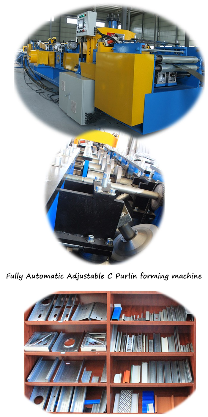 Fullly-Automatic Z Purlin Lighting Truss Framing Machine