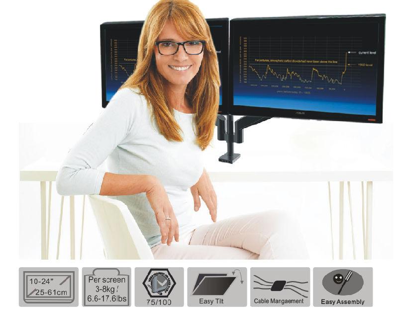 Gas Lift Desktop Mount (LCD 3004)