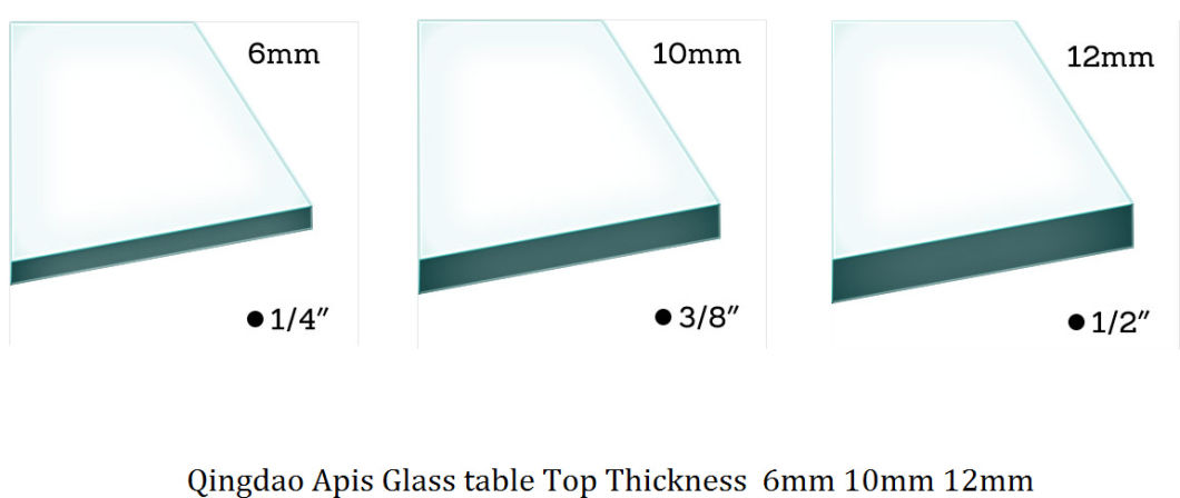 USA Carton Standard 10mm Clear Round Table Covers/Topper Furniture Dining Coffee Tabletop Protectors Tempered Glass