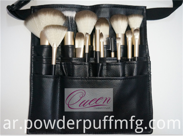 18PCS Synthetic Hair Professional Makeup Brush Set with Belt Case