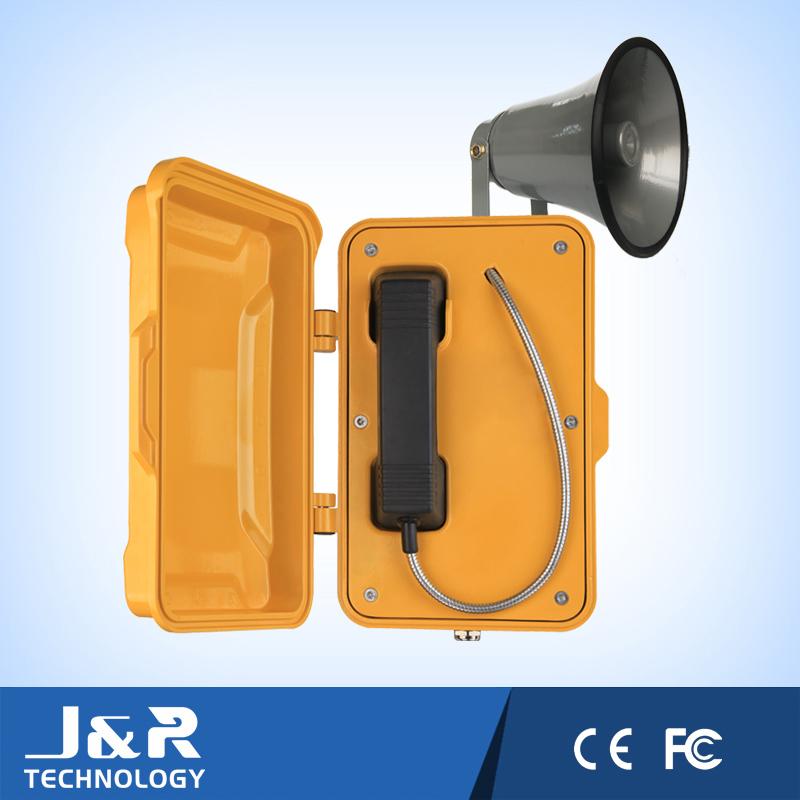 Waterproof Emergency Telephone Industrial Phone Vandal Resistant Intercom for Highway, Tunnel