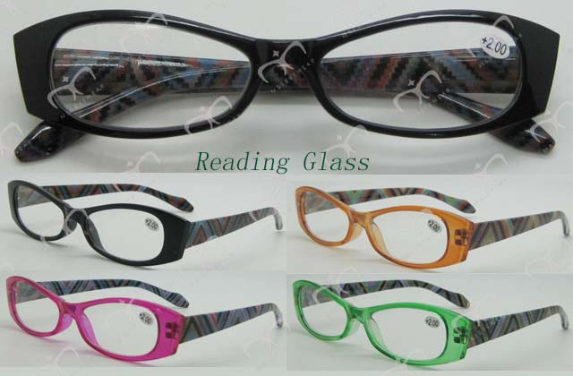 Ladies Fashion Plastic Eyewear Eyewearframe Reading Glasses with Pouch (MRP21661)