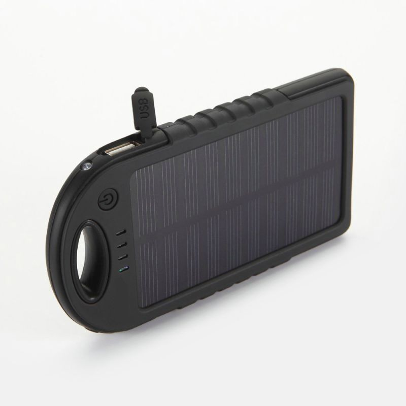 Dual USB 5000mAh Waterproof Portable Solar Power Bank Battery Charger