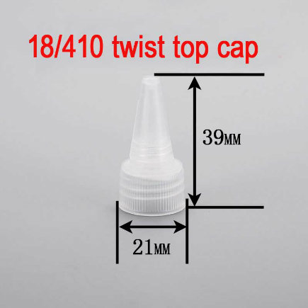 18/410 Round Bottle Packaging Screw Plastic Twist Spout/Top Cap