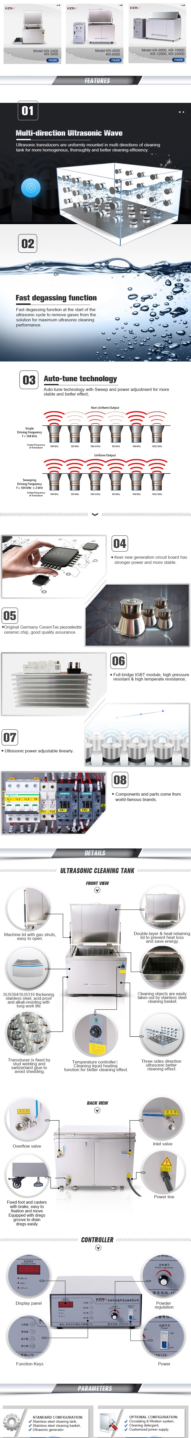 Best Selling Ultrasonic Degreasing Machine for Parts Cleaning Washing