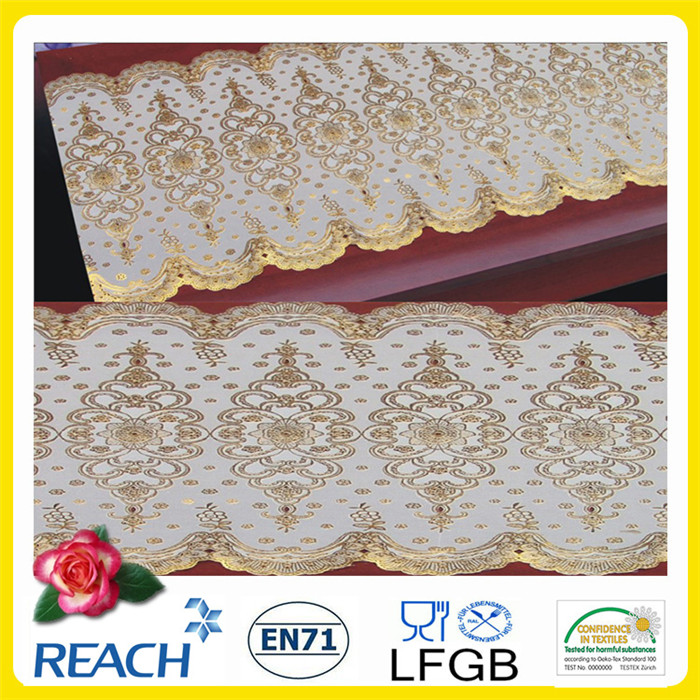 Vinyl Gold/Silver Lace Table Runners
