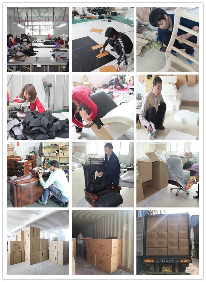 Chinese Furniture PU Leather Navy Executive Chair (HX-8064B)