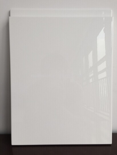 White Laminated Lacqure Kitchen Cabinet Doors with Handless (zhuv)