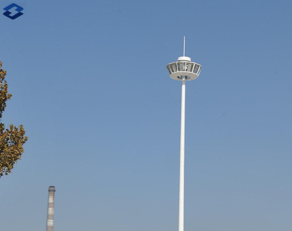 Octagonal 25m Galvanized Electric High Mast Lighting Steel Pole