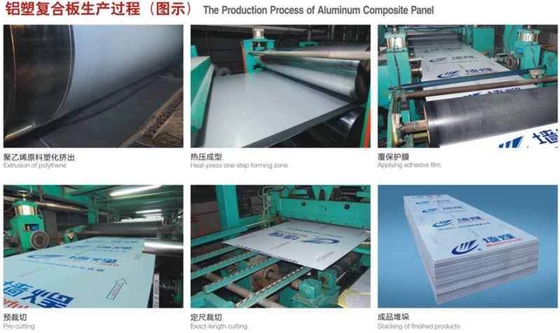 Gold Brushed Aluminum Composite Panel ACP