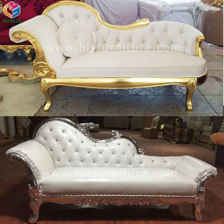 Leather Chesterfield Chaise Lounge Sofa Chair for Wedding/Party/Hotel