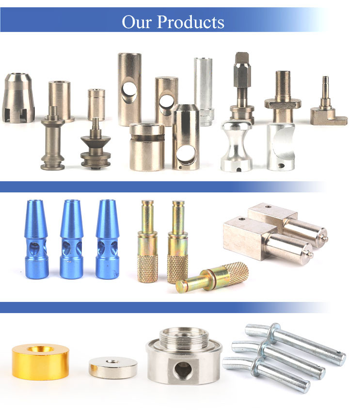 CNC Turning Parts Special Carbon Steel Zinc Plated Solid Pins Shaft