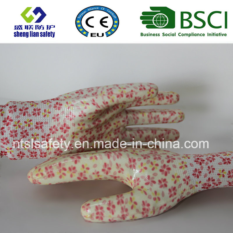 Nitrile Coated Labor Protective Garden Safety Work Gloves