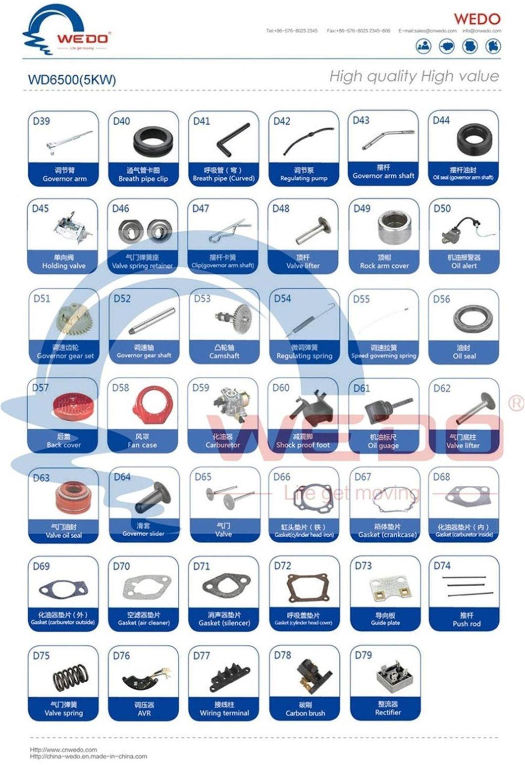 3kw/4kw/5kw Carburetor/Crankshaft/Piston/Spark Plug/Recoil Starter Gasoline Generators Spare Parts