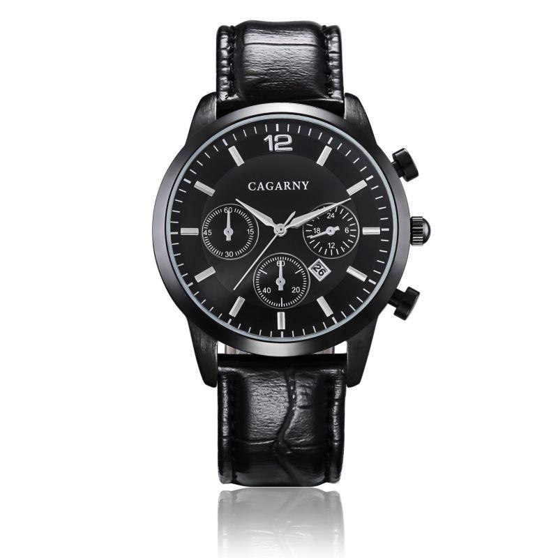 6832 Wristwatch for Men 43mm Case Multi-Function Date Window 3eyes
