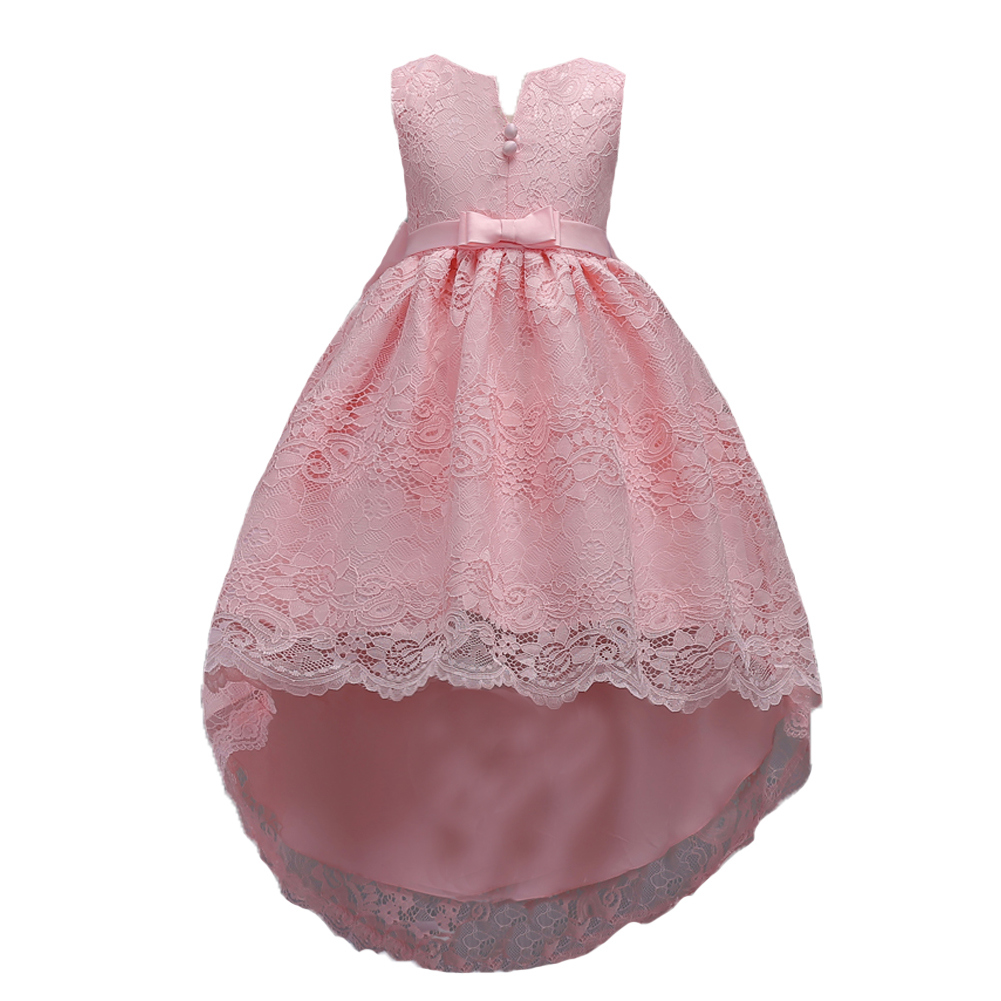 Hot New Spring and Autumn Sleeveless Children's Trailing Dresses