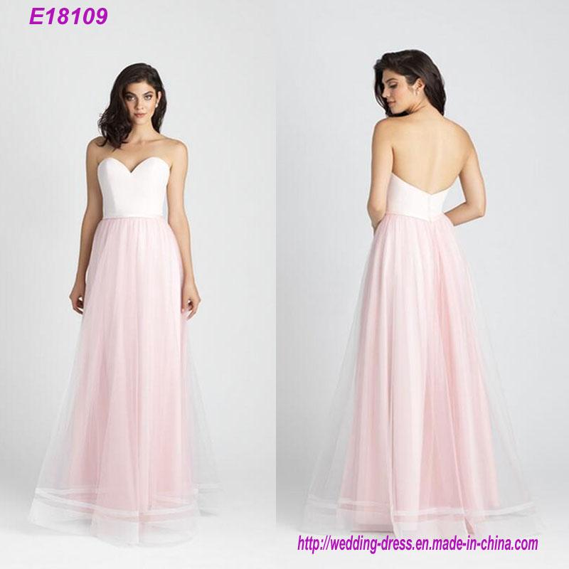 Pink 2017 Women Fashion Chiffon Bridesmaid Dress