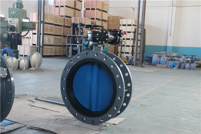 Double Flanged Butterfly Valve with Painting Undercut Disc