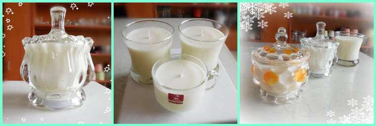 Hot Sale Decorative Glass Imperial Crown Candle Holder with Good Quality