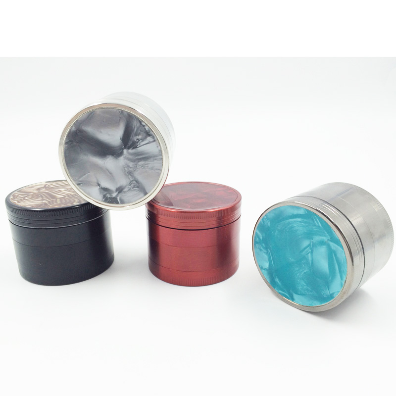 Beautiful Pattern Metal Herbal Grinder with Smoking Hand Crank Crusher (ES-GD-004)