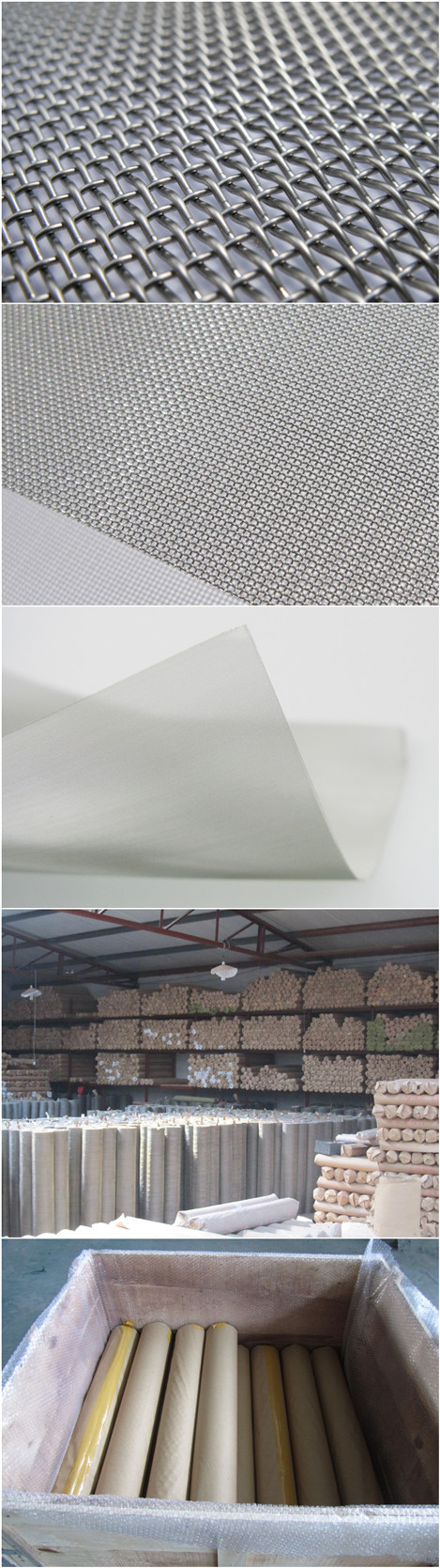 China Hot Sale 302 / 304/ 316 Stainless Steel Woven Wire Mesh