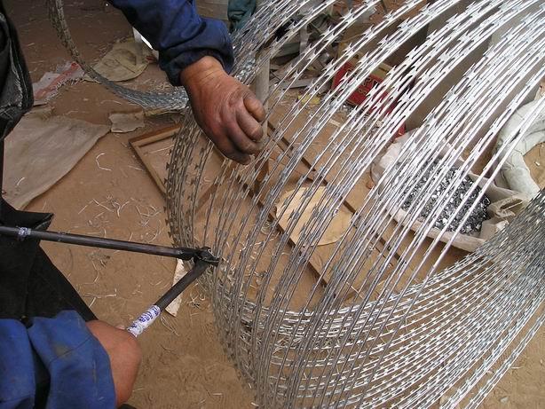 Galvanized Razor Wire/Concertina Wire