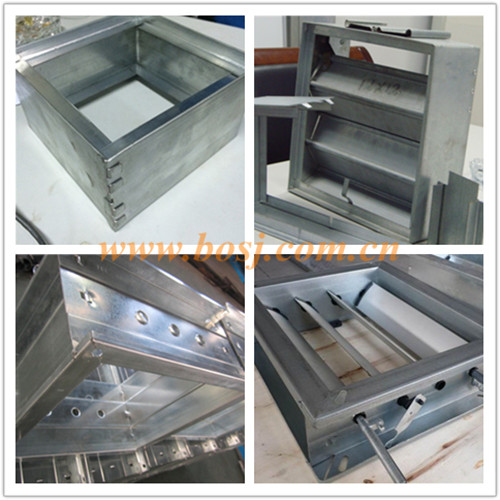 Aluminum Motorised Opposed Blades Damper with Control Motor for HVAC System Duct Roll Forming Making Machine Thailand