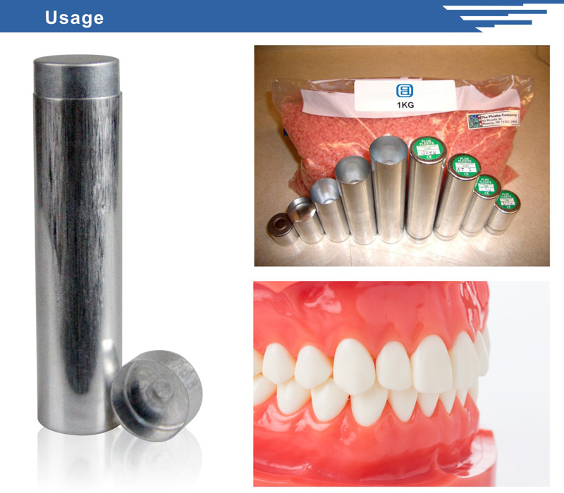 ISO Factory Aluminum Flexible Denture Cartridges for Dental