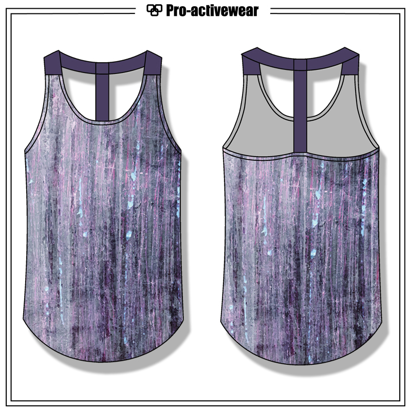 OEM Wholesale Women Custom Cotton Screen Printing Tank Top