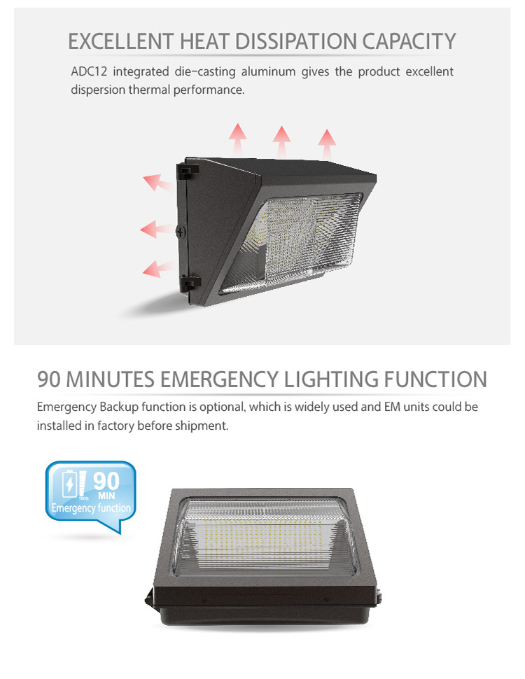 Motion Sensor Wall Pack Light