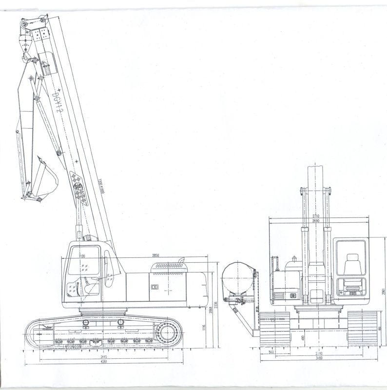 12 Ton Multifunction Crawler Crane with Side Lifting Type Pipelayer Machine (DGY12)