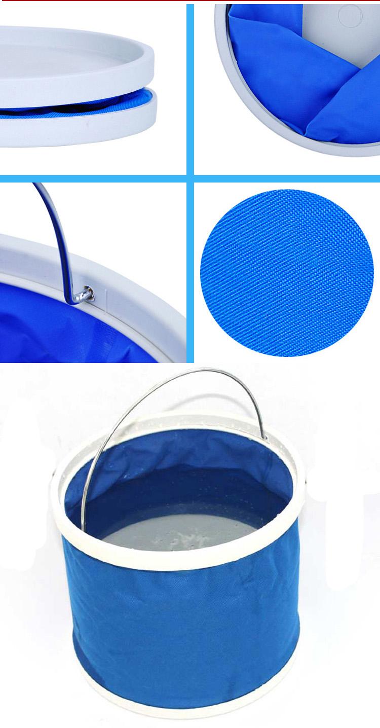 Promotional Folding Fishing Bucket with Handle